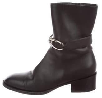Balenciaga Leather Mid-Calf Boots Black Leather Mid-Calf Boots