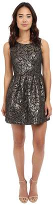BB Dakota Cooper Metallic Brocade Pleated Dress Women's Dress