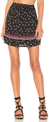 Ella Moss Embroidered Ruffle Skirt