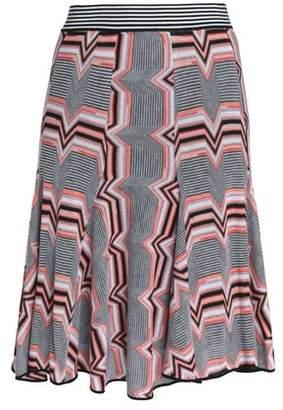 Missoni Pleated Crochet-Knit Skirt