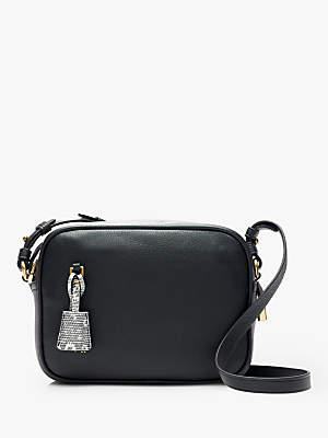 J.Crew Signet Leather Cross Body Bag, Black