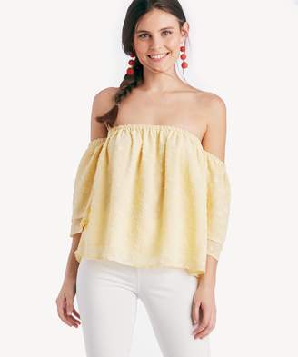 Sole Society Off The Shoulder Tiered Sleeve Top