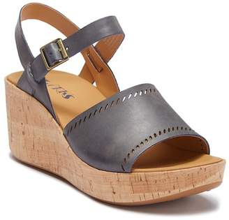 KORKS Tone Platform Wedge Sandal