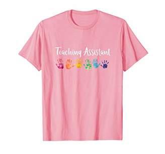 Rainbow Handprint Shirt For Teacher Assistants
