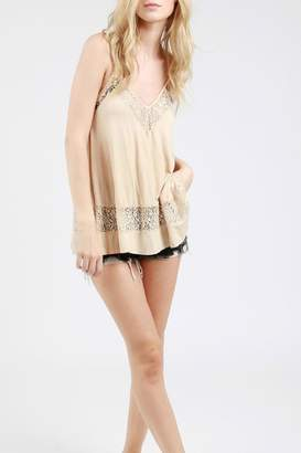 POL Lace Embroidred Top