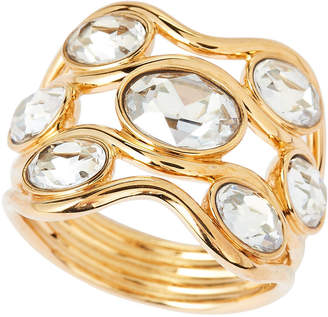 Swarovski Gold-Tone Wide Fragment Ring