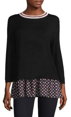 Kate Spade Diamond Mixed Media Sweater