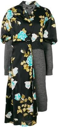 Junya Watanabe floral jersey jumper dress