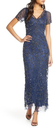 Pisarro Nights Beaded Longline Gown