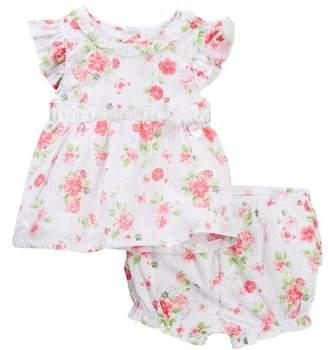 Little Me Silver Floral 2-Piece Sunsuit (Baby Girls)