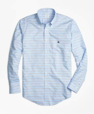 Brooks Brothers Non-Iron Regent Fit BB#1 Horizontal Stripe Sport Shirt