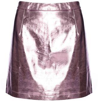 Glamorous **Metallic High Waisted Skirt