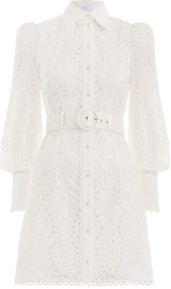 Zimmermann Heathers Belted Shirt Dress