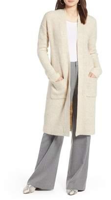 Halogen Long Open Front Cardigan (Regular & Petite)