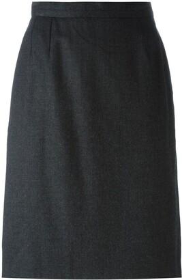 Saint Laurent Pre-Owned straight midi skirt