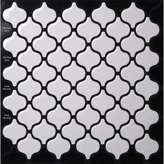 TicTacTiles 9.5 x 10 Peel & Stick Mosaic Tile in White