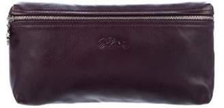 Longchamp Leather Zip Clutch