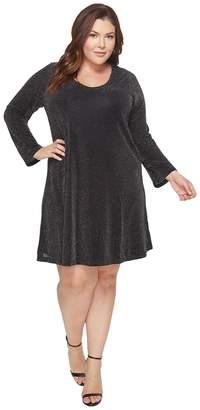 Karen Kane Plus Plus Size Sparkle Knit Taylor Dress Women's Dress