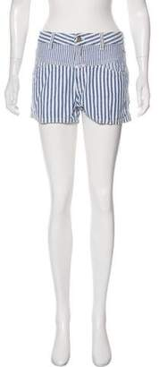 Closed Mid-Rise Mini Shorts