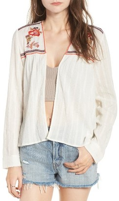 Women's Sun & Shadow Embroidered Gauze Jacket $59 thestylecure.com
