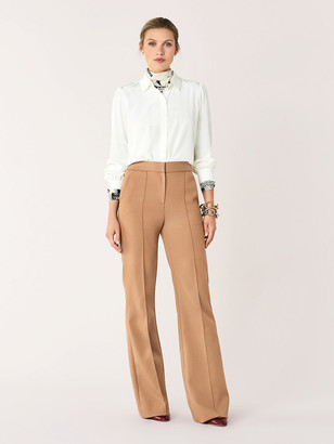 Diane von Furstenberg Kimberly Cotton-Blend Flare Pants