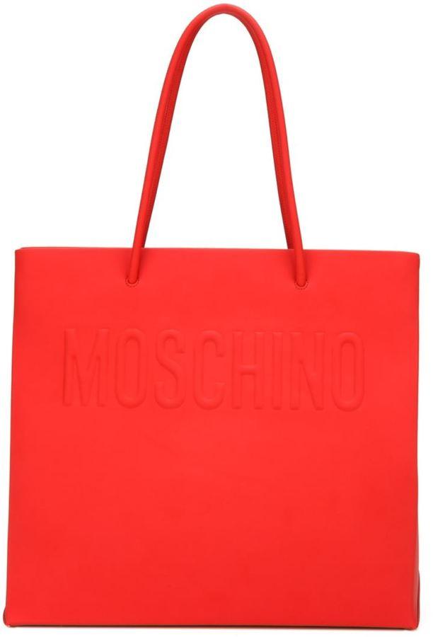 MoschinoMoschino logo embossed shopper tote