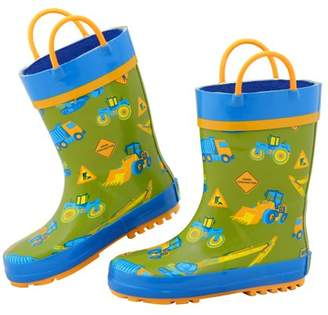 Stephen Joseph All Over Print Rainboots, Construction
