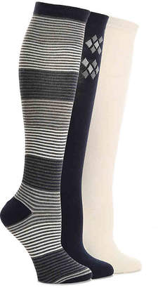 Nine West Diamond Knee Socks - 3 Pack - Women's