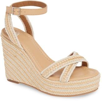 9d22fa720 Beige Woven Wedge Women's Sandals - ShopStyle
