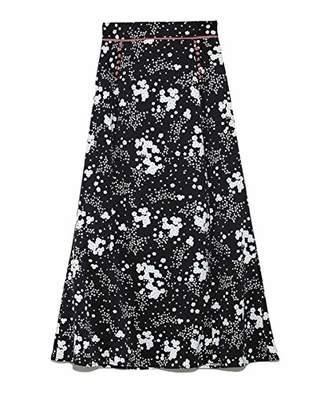 Snidel (スナイデル) - [スナイデル] スカート リトルフラワーロングスカート SWFS191129 BLK 日本 0 (日本サイズ7 号相当)