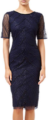 Adrianna Papell Beaded Sheath Dress, Navy/Black