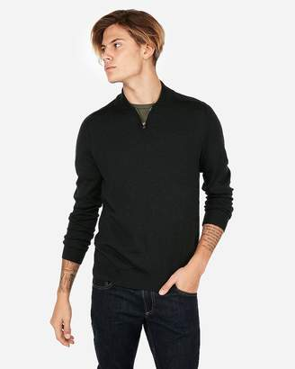 Express Merino Wool Blend Thermal-Regulating Mock Neck Sweater