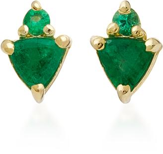 ILA Ilenia 14K Emerald Earrings $430 thestylecure.com