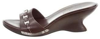 Salvatore Ferragamo Slide Wedge Sandals