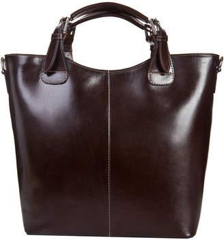 Italian Leather Waxed Leather Tote