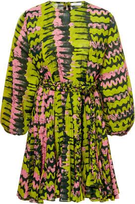 Rhode Ella Tie-Waist Cotton Mini Dress Size: XS