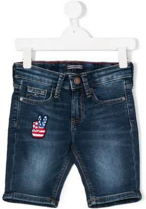 Tommy Hilfiger Junior bleach effect denim shorts