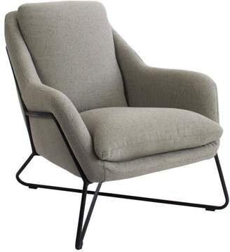Tribeca Darcy And Duke Armchair Grey With Matte Black Frame