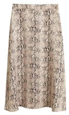 MANGO Snake print skirt