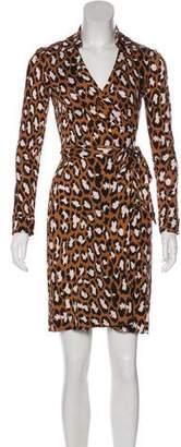 Diane von Furstenberg New Jeanne Leopard Print Wrap Dress