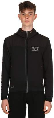 Emporio Armani Ea7 Ventus 7 Hooded Cotton Blend Sweatshirt