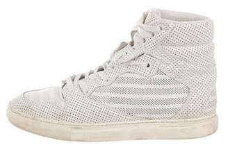 Balenciaga Perforated High-Top Sneakers