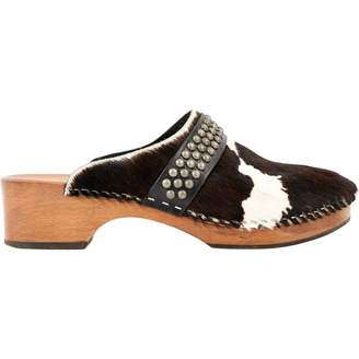 Saint Laurent Brown Pony-style calfskin Flats