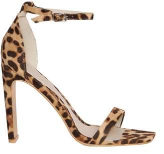 Missy Empire Missyempire Ashlee Leopard Print Squared Heels