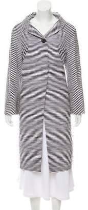 Prada Silk Stripe Coat