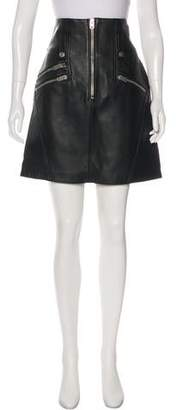 Keith Haring Coach 1941 x Leather Knee-Length Skirt
