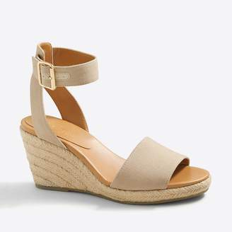 J.Crew Strappy canvas espadrille wedges