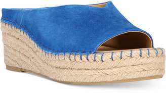Franco Sarto Pine Slip-On Espadrille Wedge Sandals Women's Shoes $79 thestylecure.com