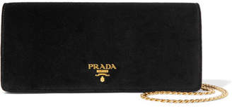 Prada Velvet Shoulder Bag - Black