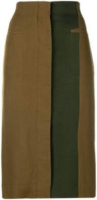 Haider Ackermann panelled pencil skirt
